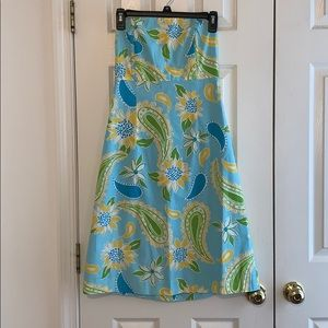 Strapless floral lily Pulitzer dress